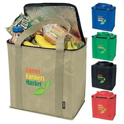 KOOZIE® Zippered Insulated Grocery Tote