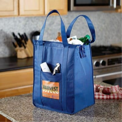 Insulated Polytex Tote W/Zipper