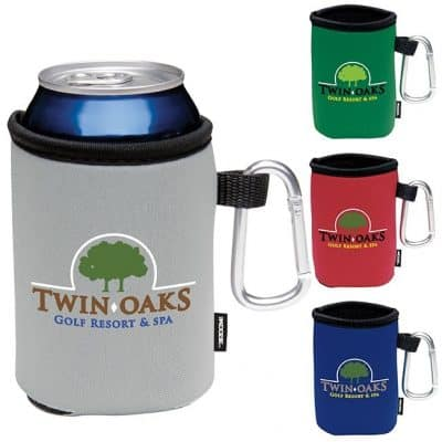 KOOZIE® Collapsible Can Kooler w/Caribiner