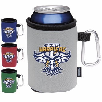 KOOZIE® Collapsible Can Kooler w/Caribiner (Heat Transfer)