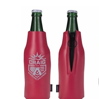 12 Oz. Koozie® Deluxe Zip-Up Bottle Kooler