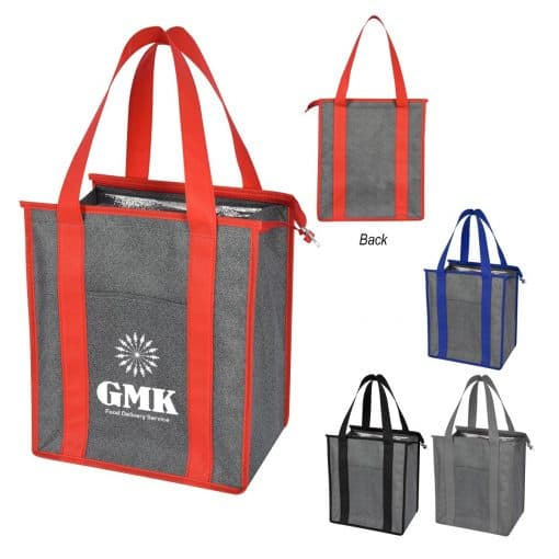 Heathered Non-Woven Cooler Tote Bag
