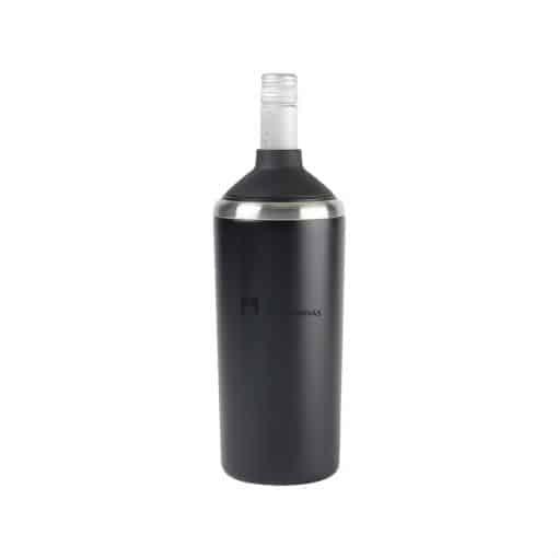 Aviana™ Magnolia Double Wall Stainless Wine Bottle Cooler - Matte Black