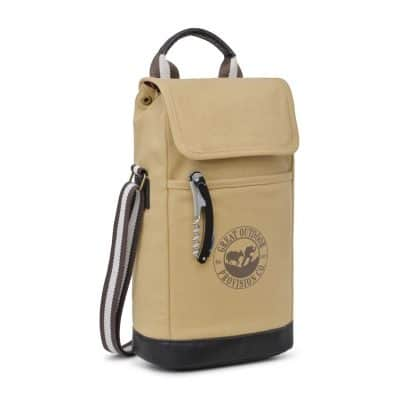 Heritage Supply Ridge Cotton Insulated Wine Kit - Dune