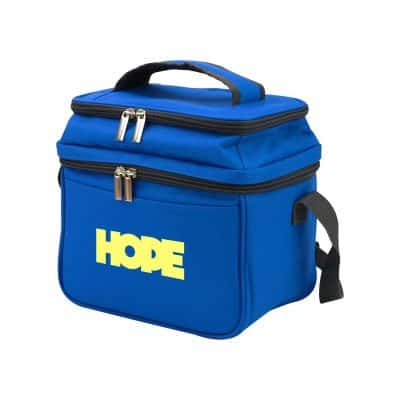 Dual Compartment 6 Can Cooler