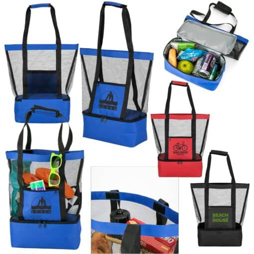 Pacific Beach Mesh Cooler Tote